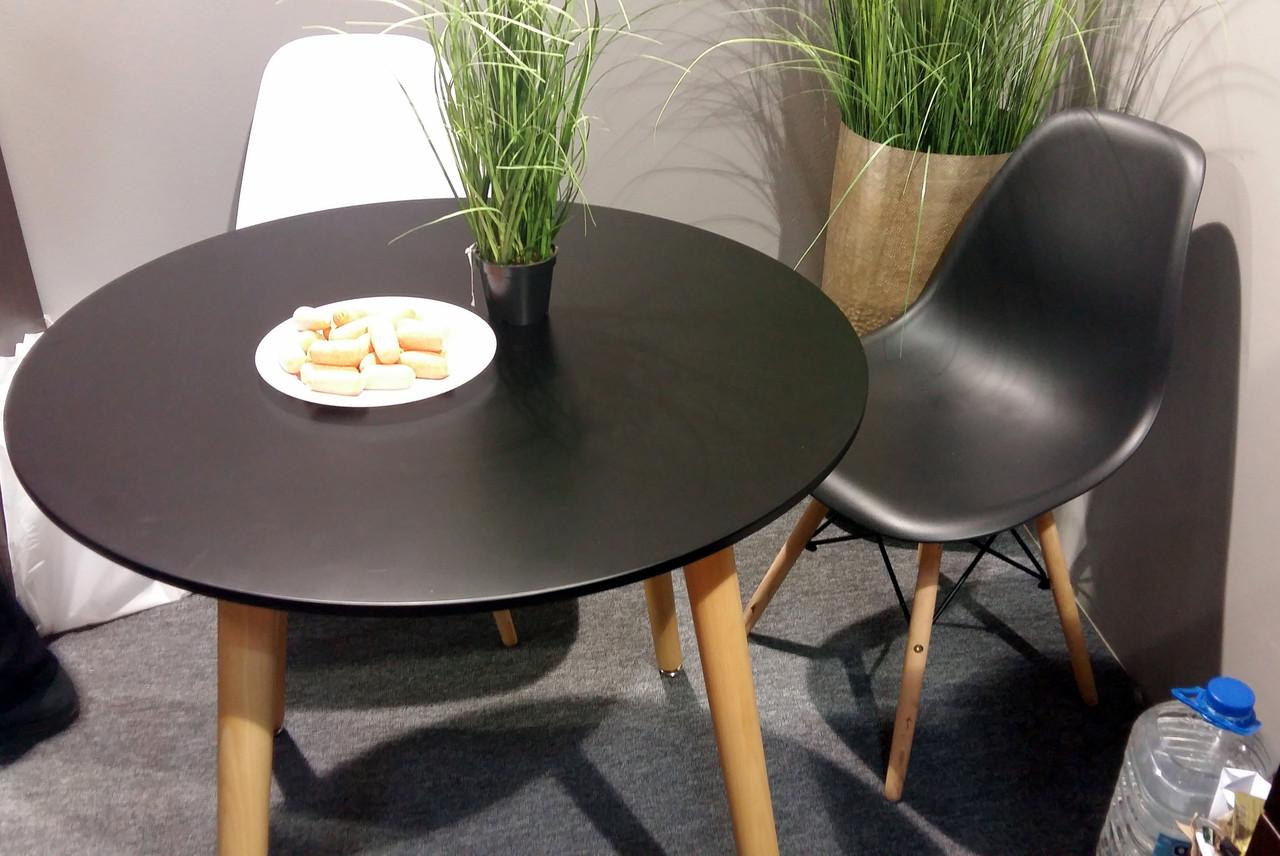 Обеденный стол в скандинавском стиле круглый DT-9017 NOLAN III (Нолан) Evrodim, цвет черный