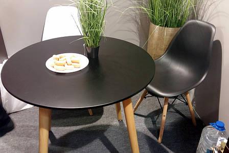 Обеденный стол в скандинавском стиле круглый DT-9017 NOLAN III (Нолан) Evrodim, цвет черный, фото 2