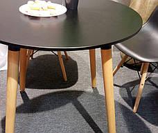 Обеденный стол в скандинавском стиле круглый DT-9017 NOLAN III (Нолан) Evrodim, цвет черный, фото 3