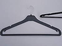 Плечики вешалки пластмассовые  MAU-45P черные, 45 см, 10 штук в упаковке