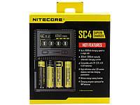 Универсальное зарядное устройство Nitecore SC4 Superb Charger. Оригинал, фото 1