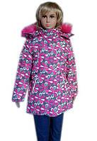 Зимняя удлиненная куртка для девочек