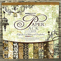 Альбом с бумагой и вырубками для скрапбукинга (300*300 мм) 24 листа
