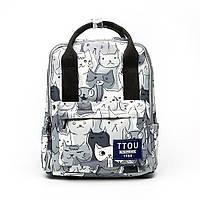 Рюкзак сумка (трансформер) женский городской с котами