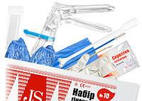 Набор гинекологический JS № 10, стандарт с бахилами