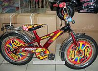 Детский велосипед Mustang Hotwheels (14-дюймов от 4-х до 8-ми лет!)