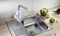 Проточный водонагреватель на кран электрический Astor KDR-1534 аналог Делимано, водонагреватель проточной воды