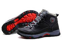 Кожанные мужские зимние ботинки  кроссовки Ecco экко модель Е04