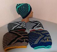 Детская шапка вязаная теплая зимняя подросток