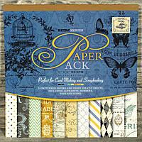 Альбом с бумагой и вырубками для скрапбукинга 3321648-18 (300*300 мм) 24 листа