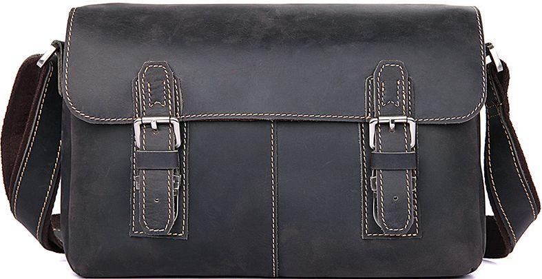 20a33f7281ce Мужская удобная кожаная сумка через плечо S.J.D., 6002J коричневый ...