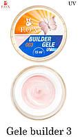 Моделирующий гель-желе F.O.X Gele builder gel UV Pink 003 (розово-молочный), 15 мл