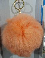 Персиковые брелки из меха кролика оптом. 35