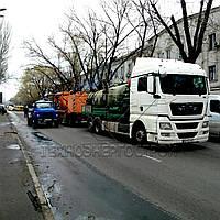 Услуги илососа в Одессе. Гидродинамическая промывка ливневой и хозбытовой канализации.