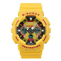 Яркие,  Стильные  часы Casio  G-Shock GA-200RG YELLOW  (касио джи шок)