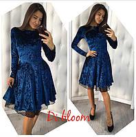 Платье женское мраморный велюр хорошего качества, размер единый 42 - 46 , в комплекте фатиновый подьюбник