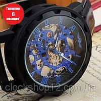 Механические часы Winner Skeleton (black-blue)