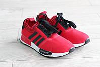 Кроссовки женские Adidas Marque Aux 3 Bandes цвет красный (реплика)
