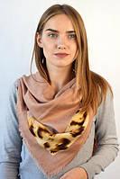 Оригинальный платок с маленькой бахрамой