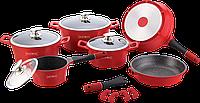 Набор посуды Royalty Line ES-1014 M Red 14 предметов