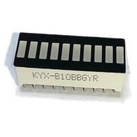 Светодиодная линейная шкала KYX-B10BBGYR
