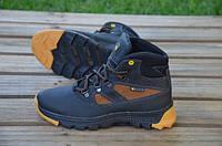 Детские кожаные ботинки Wallker 12238 черные