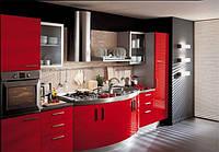 Встроенная кухня с закруглением