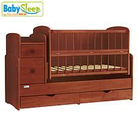 Baby Sleep кроватка трансформер Angela (DTP-S-B) Mahagoni