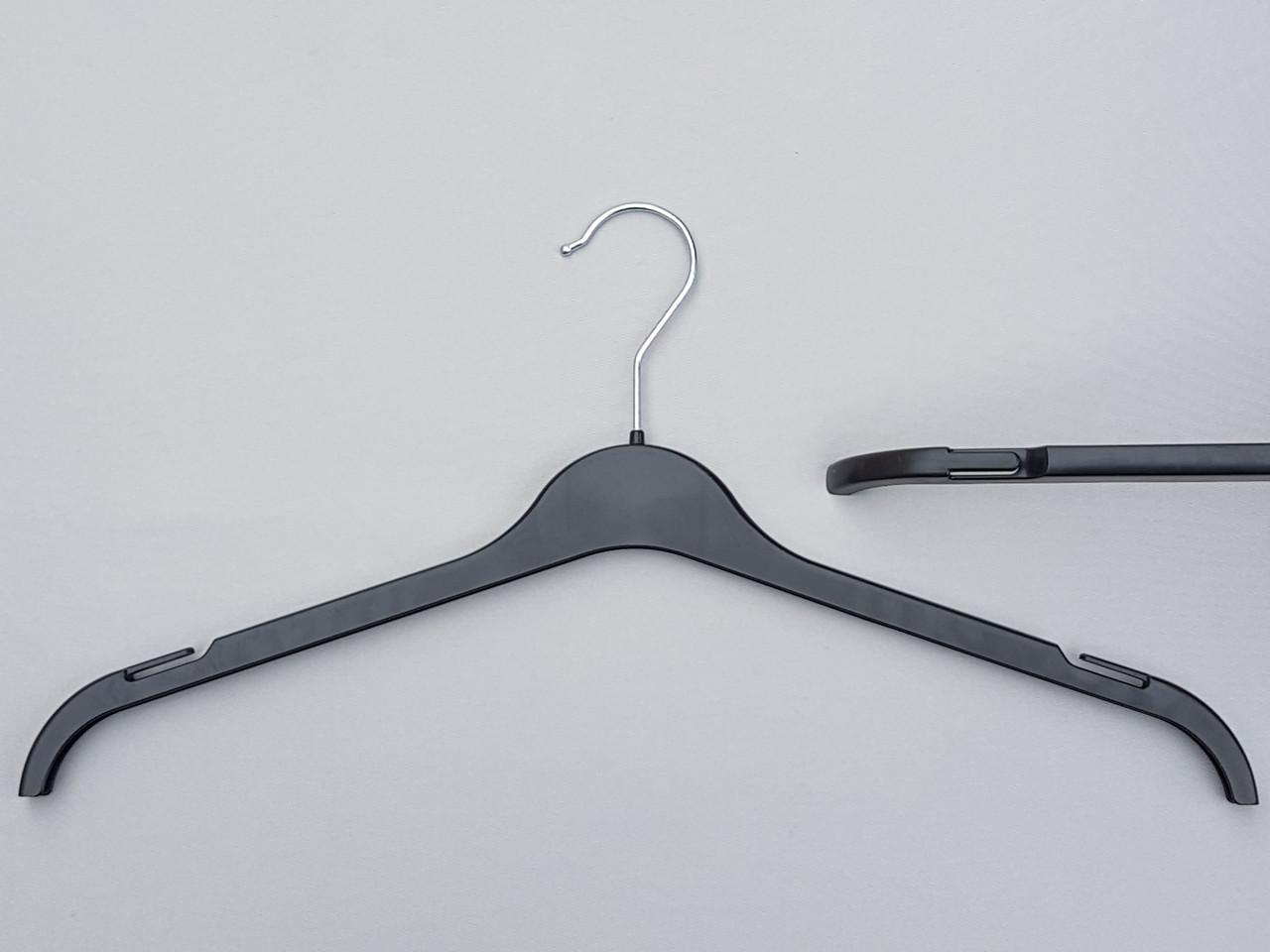 Плечики вешалки пластмассовые ВТ45 черные, 45 см
