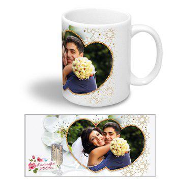 """Керамічна чашка на весілля """"Наречений і наречена"""""""