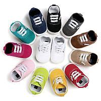 Детские пинетки, кеды, кроссовки с резиновой подошвой для мальчика или девочки от 0 до 18 месяцев