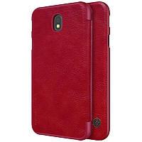 Чехол книжка для Samsung Galaxy J330 J3 (2017) Nillkin Qin красный