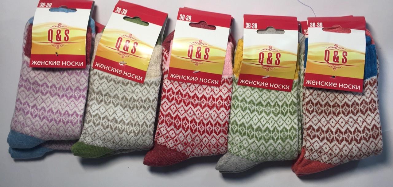 Женские шерстяные носки 36-40 Хлопок