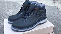 Ботинки зимние мужские на меху Ecco синие 40-45