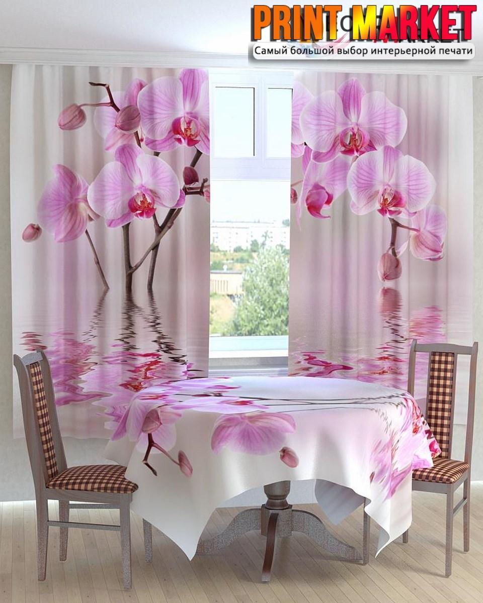 Фотошторы для кухни 3Д орхидея