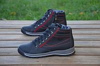 Детские кожаные ботинки Kris 12241 черные