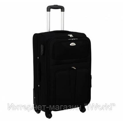 Дорожный чемодан на 4-х колесах (средний) RGL S-010 черного цвета, фото 2