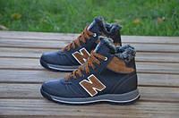 Детские кожаные ботинки New balance 12242 черные