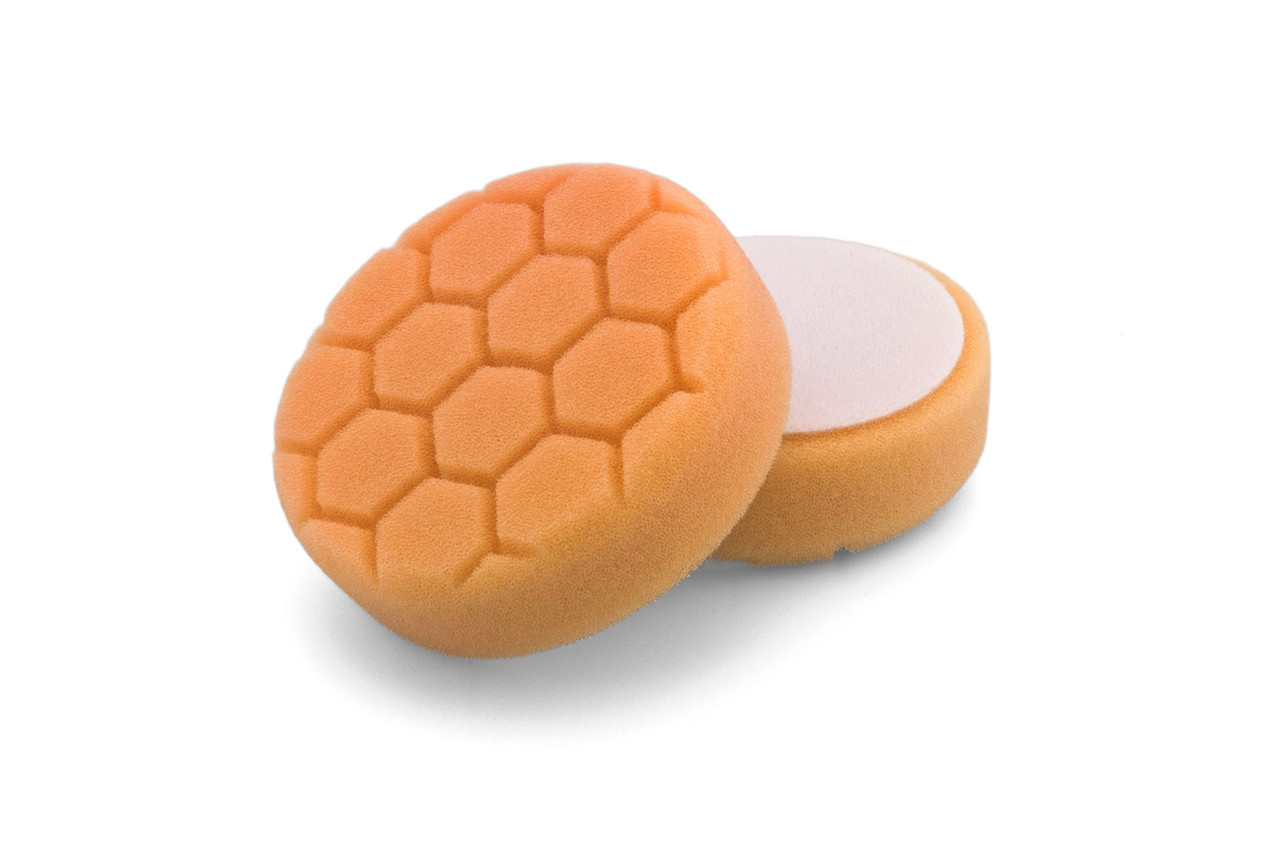 """Полировальный круг соты средней жесткости - Flexipads PRO-Detail 100 мм. (4,0"""") 30 мм. оранжевый (HL430)"""