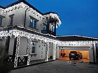 "Новогодняя гирлянда бахрома ""Icicle delux 120LED"" белый"