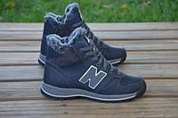 Детские кожаные ботинки New balance 12243 темно-синие
