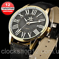 Механические часы с автоподзаводом Sewor (black-gold)