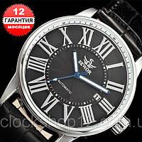 Механические часы с автоподзаводом Sewor (black-silver)