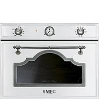 Компактный духовой шкаф с пароваркой Smeg SF4750VCBS белый+состаренное серебро