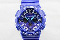 Яркие,  Стильные  часы Casio  G-Shock GA-200RG Blue  (касио джи шок)