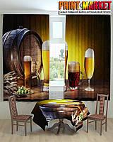 Фотошторы для кухни 3d бокалы с пивом
