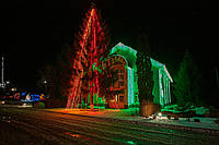 "Новогодняя гирлянда бахрома ""Icicle delux 120LED"" зеленый"