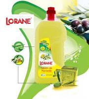 Бесфосфатный Гипоаллергенный Антисептический Гель для стирки LORANE (Марсельское мыло), 3 л