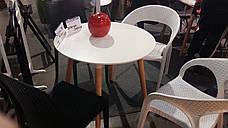 Стул пластиковый садовый из искусственного ротанга OW-135 MELODY Evrodim, белый, фото 2