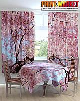 Фотошторы для кухни цветущее дерево